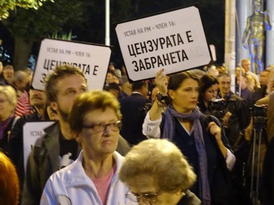 Skopje Anti Censorship Protest October 2015 by SJM (12)