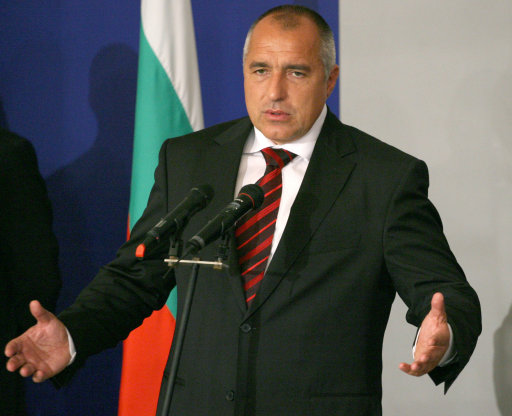 Bulgaria's new Prime Minister Boyko Borisov and leader of the center-right Citizens for European Development of Bulgaria party 'GERB', speaks during an official ceremony at the Bulgarian Government building in the capital Sofia, Monday, July, 27, 2009. Lawmakers voted 162-77, with one abstention, to ratify Prime Minister-designate Boiko Borisov's new government Monday, and approved his 16-member Cabinet in a separate vote. The former Sofia mayor, whose GERB party won a July 5 election, is promising to implement swift anti-corruption reforms aimed at restoring European Union confidence in Bulgaria and unfreezing blocked EU funds to help the country cope with its economic crisis. (AP Photo)