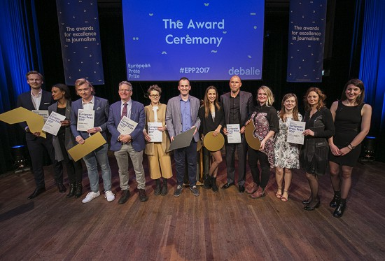 The Netherlands Amsterdam 20 april 2017. European Press Prize. Photo: Jan Boeve