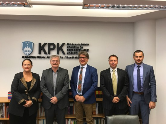 RAI Secretariat with the Commission for the Prevention of Corruption - Mr Boris Štefanec, President, and Mr Igor Lamberger, Deputy Chief Commissioner